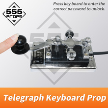 Morse Code device escape room adventurer game prop enter password code via telegraph keyboard to unlock run away chamber room new escape room prop computer jigsaw puzzle system puzzles pieces jxkj1987 real life room escape adventurer game
