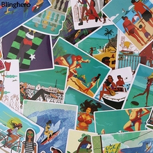 Blinghero Summer Vacation on Hawaii Stickers 27Pcs/set Beach Stickers Cool Decals  Luggage Stickers Scrapbooking Stickers BH0087