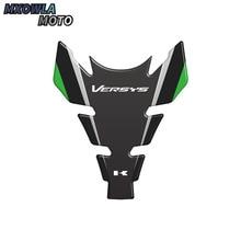 цена на Motorcycle Carbon Fiber Tank Pad Protector Cover Sticker for Kawasaki Ninja 250 300 ZX6R ZX10R Z1000 Z1000SX Z800 ER6N VN650