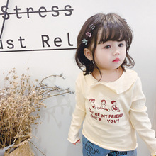 Autumn Toddler Baby T-shirt for Kids Girls Long Sleeve Tee Tops Soft Solid Kids Tees Candy Color Baby Girls Cotton 2-6T T-Shirts