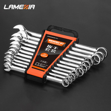 LAMEZIA Chrome Vanadium Steel Double End Ratchet Handle Wrench Combination Spanner Set OpenEndWrench