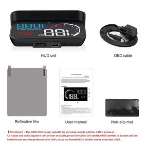 Image 5 - WiiYii M10 OBD2 HUD Head Up Display Per Auto styling Display Sistema di Allarme di Velocità Eccessiva Attenzione Parabrezza Proiettore Del Proiettore Universale