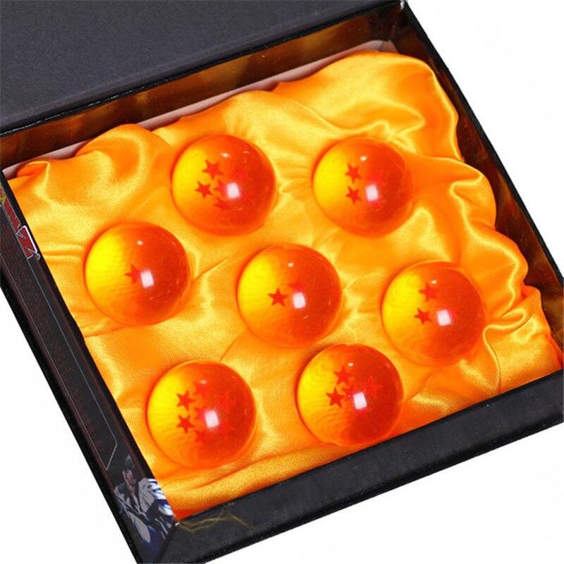 7pcs/set 3.5CM Dragon Ball Z 7 Stars Crystal Balls Dragon Ball Action Figure Complete Set Dragon Ball Super Toys