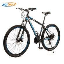 HOT WOLF Высококачественная велосипедная рама из алюминиевого сплава, горный велосипед, 29 дюймов, с переменной скоростью, 24 скорости, взрослый ...