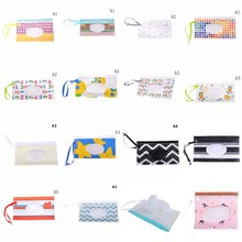 30Styles Clutch and Clean Wipes Carrying Case Eco-friendly Wet Wipes Bag Cosmetic Pouch Easy-carry Snap-strap Wipes Container