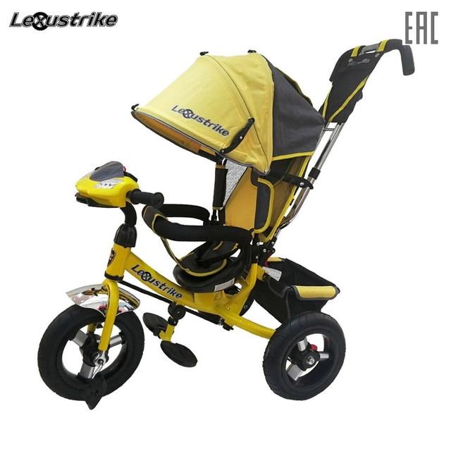 Велосипед детский 3-х колесный Lexus trike, надувные колеса 12 и 10, светомузыкальная панель, доставка от 2-х дней