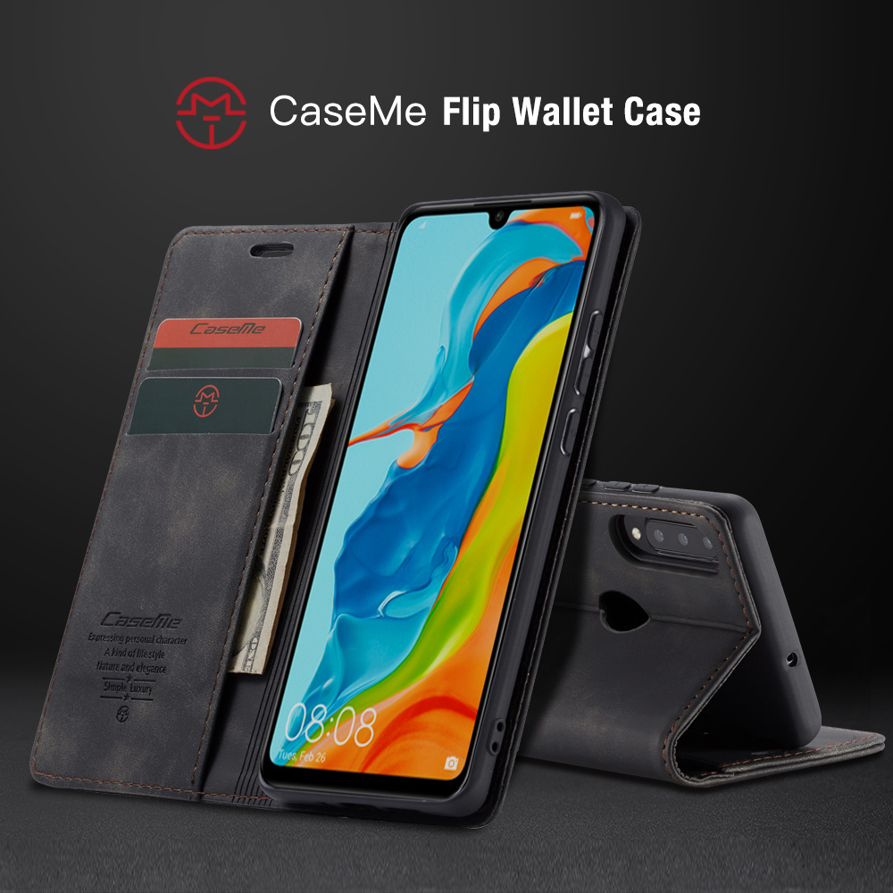 P30 Pro Cover for Huawei P20 Lite Case P30 Leather Book Have Metal Logo Wallet Flip Huewai Luxury Retro Suture Top Quality Shell