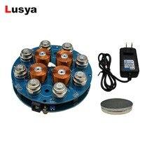 DIY moduł lewitacji magnetycznej Maglev artykuły wyposażenia wnętrz zestaw DIY zawieszenie magnetyczne moduł cyfrowy z lampą LED waga 300g
