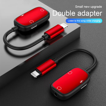 Adaptador de Audio 3 en 1 carga de auriculares Cable Jack auriculares para 8 pines 3,5mm a divisor de auriculares para iPhone XS X 7 8 plus Aux