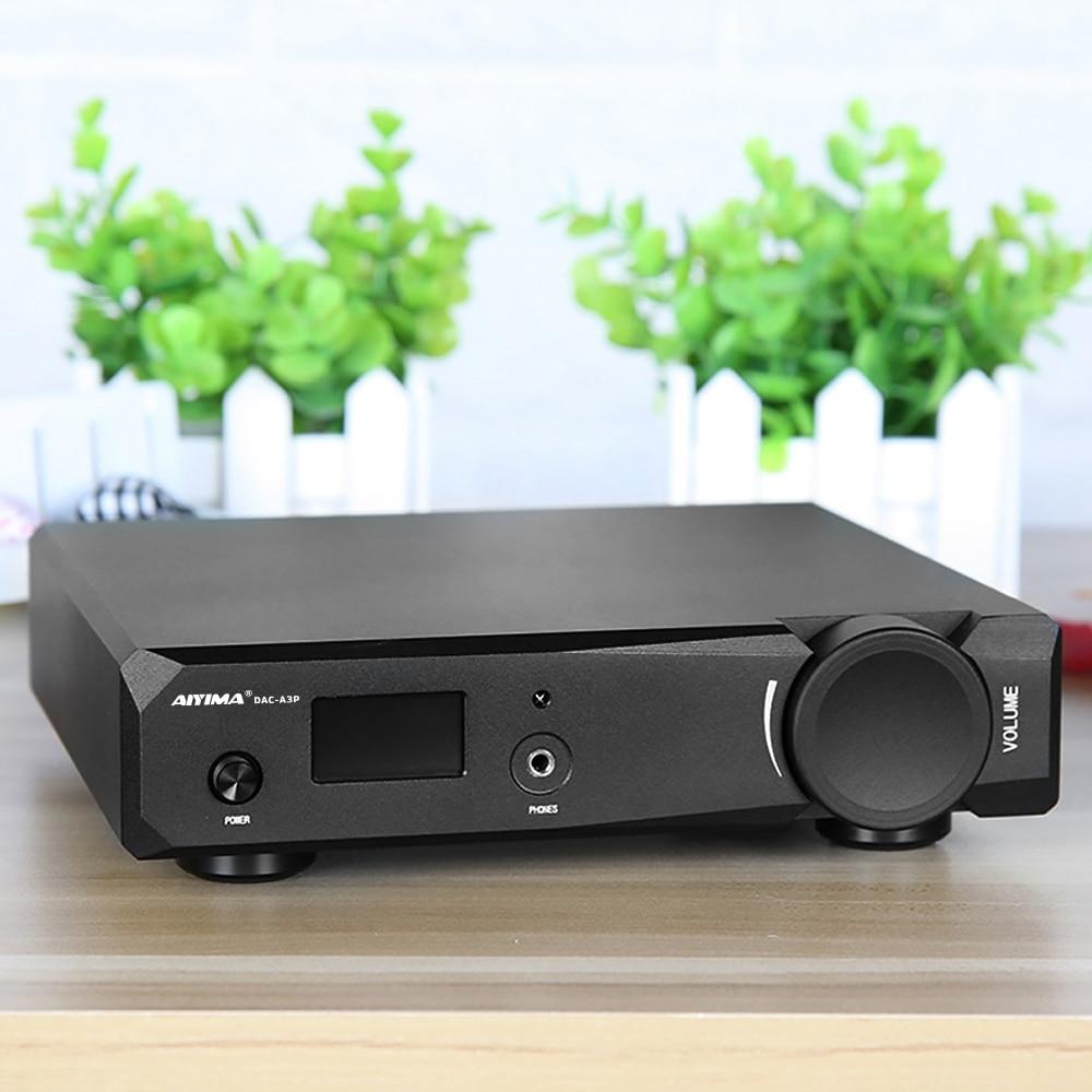 AIYIMA AK4497 décodeur Audio DAC 16Bit amplificateur casque XMOS XU208 USB DSD Coaxial optique CSR8675 Bluetooth 5.0 APTX HD ampli