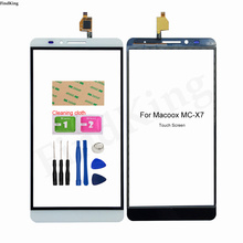 Mobile Touch Screen For Macoox MC-X7 Digitizer Panel Front Glass Touch Screen Lens Sensor Tools 3M Glue