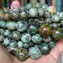 Natural African Turquoises Stones Loose Round Beads For Jewelry Making 4-12 mm Diy Bracelets Accessories 15