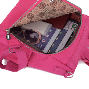Image 5 - 3 1 여자 배낭 솔리드 패션 학교 가방 여자 나일론 방수 대학생 배낭 어깨 여행 인과 가방