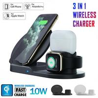 3 in 1 Charging Dock Holder For Samsung Apple Watch iPhone 11 Pro XS XR 7 8 Plus Airpods Pro Wireless Charger Stand Station Base|Mobile Phone Chargers| |  -