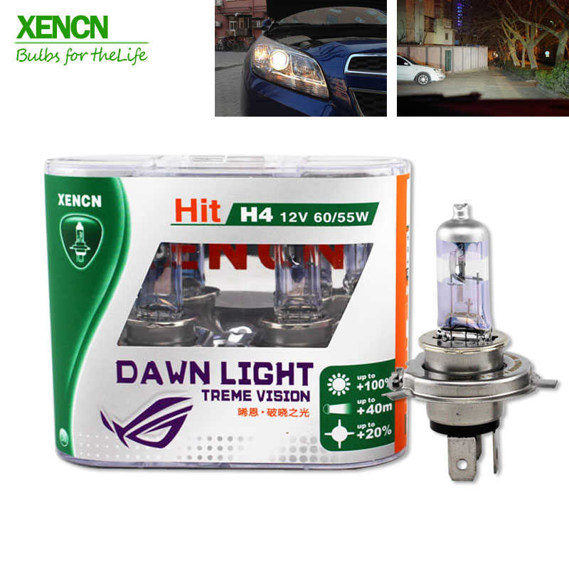 XENCN H4 12V 60/55W 3800K Second Generation Dawn Light Super Bright Car Headlights Free Shipping 30% More Ligh 75M Beam New 2PCS