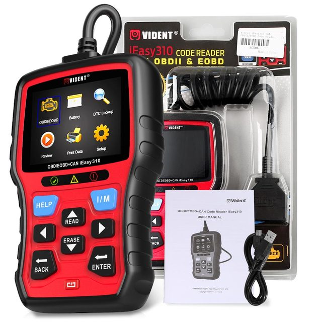 Original Vident iEasy310 Enhanced OBDII Code Reader with Battery Test Function