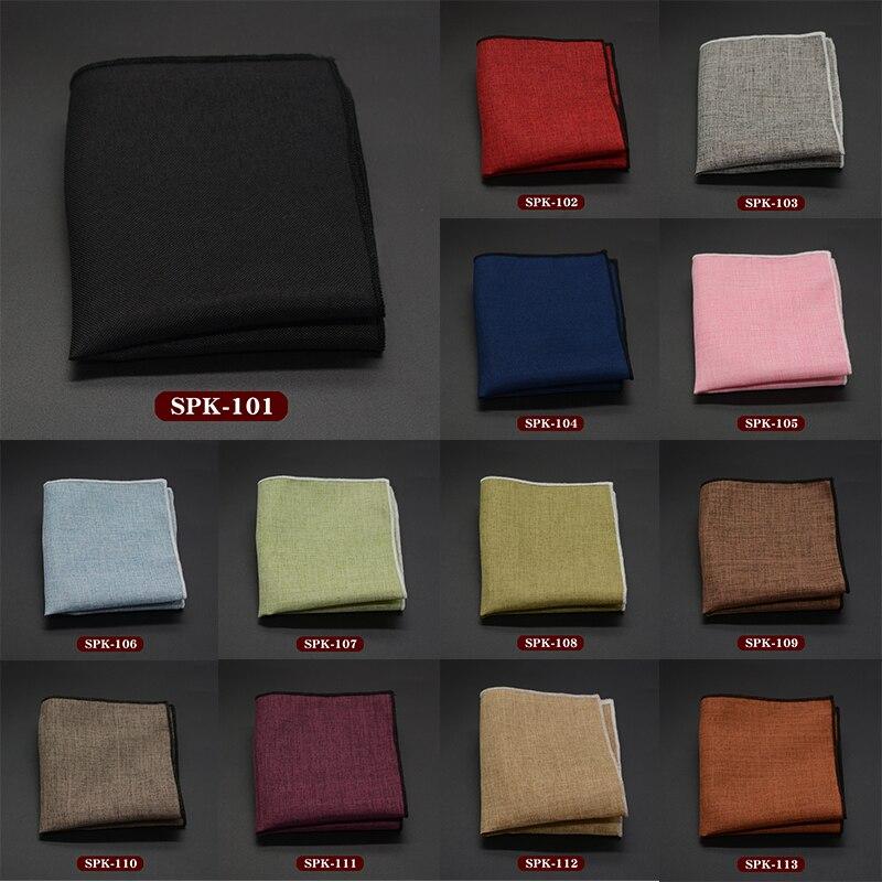 Fashion Men's Handkerchief Classic Cotton Pocket Square High Quality Male Pocket Towels Wedding Accessories Hand Towel Wholesale