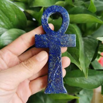 10cm naturalny kryształ lapis lazuli kamień egipski krzyż kobiet symboliczny punkt uzdrowienie reiki tanie i dobre opinie ACSDVOCATE CN (pochodzenie) Maskotka Duszpasterska CHINA Natural lapis lazuli Natuarl lapis lazuli approximate 10cm
