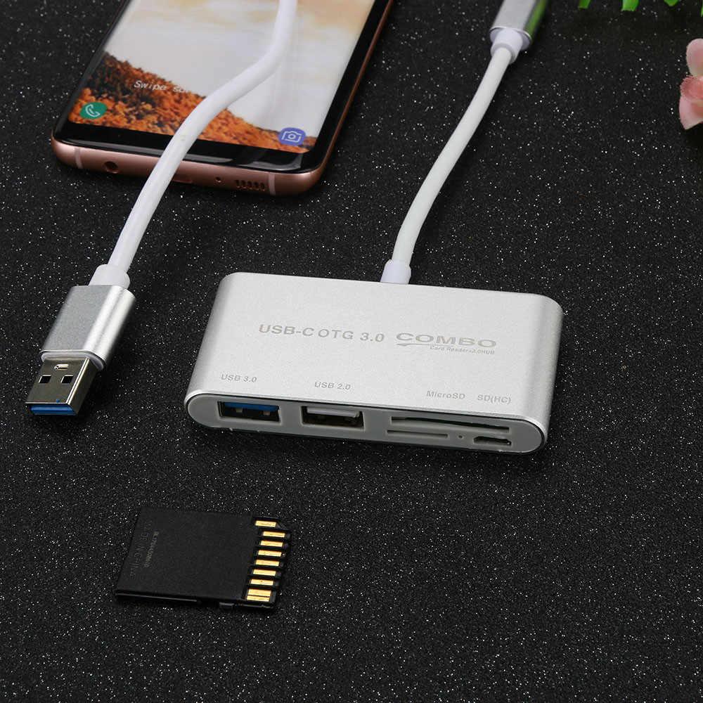 5 in1 USB C محور نوع C SD TF قارئ بطاقات USB 3.0 محاور مع المصغّر USB منفذ الطاقة 8.13