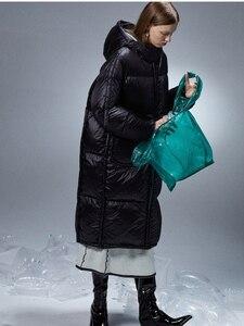 Image 3 - IRINACH45 2020 yeni koleksiyon kalın sıcak kadınlar uzun beyaz ördek aşağı ceket ceket kış