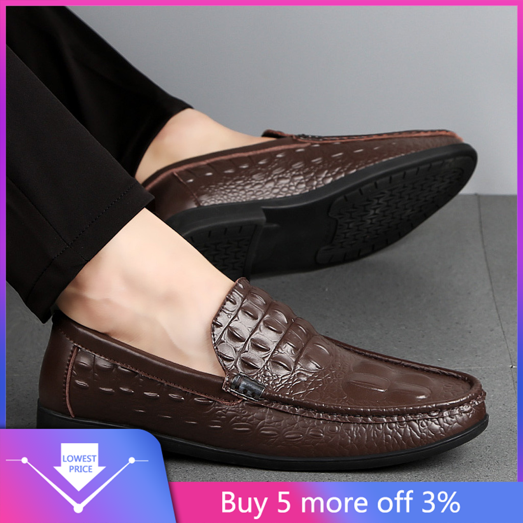 Leisure Men Shoes Moccasin Summer Fashion PU Leather Driving Slip On 1 pair Hot