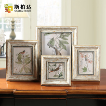 Retro Photo Frame Vintage Photo Frames for Picture Square 4/6/7/10 Inch Creative Picture Frame Combination Quadros Decorativos success style polyresin photo frame 4 x 6 picture
