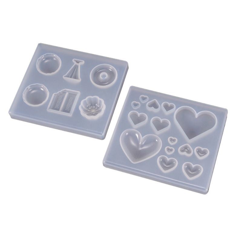 UV Resin Crafts Making DIY Crystal Epoxy Mold Candy Heart-shaped Patch Decoration Silicone Molds