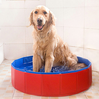 Dogs Folding Basin Household Bathtub Cats Puppy Kitten Shower Swimming Pool Bathing Washing Pet Cleaning Supplies Accessories