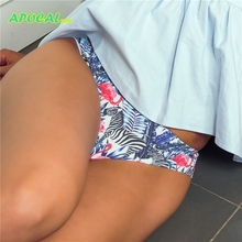APOCAL Sexy Panties Flamingo Animal Print Womens Thongs Female Underwear Women T back G String Tanga Seamless Briefs Stringi