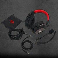 Redragon h510 zeus wired jogo fone de ouvido 7.1 surround som memória espuma almofada da orelha com microfone removível para pc/ps4 e xbox um 6