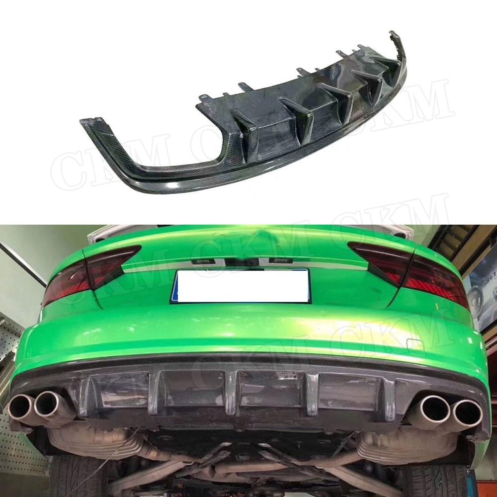 Pour A7 fibre de carbone pare-chocs arrière lèvre diffuseur becquet pour Audi A7 S7 Sline Sport 2012-2018 voiture style