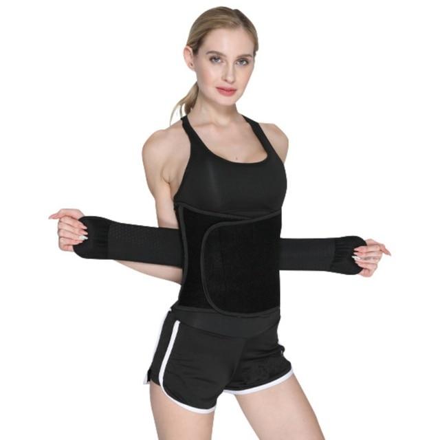 Sport Safe Accessories Women Waist Trimmer Belt Weight Loss Sweat Band Wrap Fat Tummy Stomach Sauna Sweat Belts