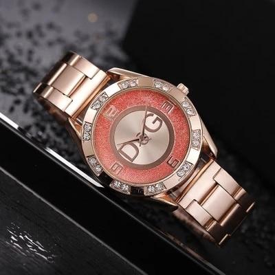 Women's Watches New Famous Luxury Brands Women Watch Fashion Rhinestone Stainless Steel Quartz Ladies Wristwatches Reloj Mujer 4