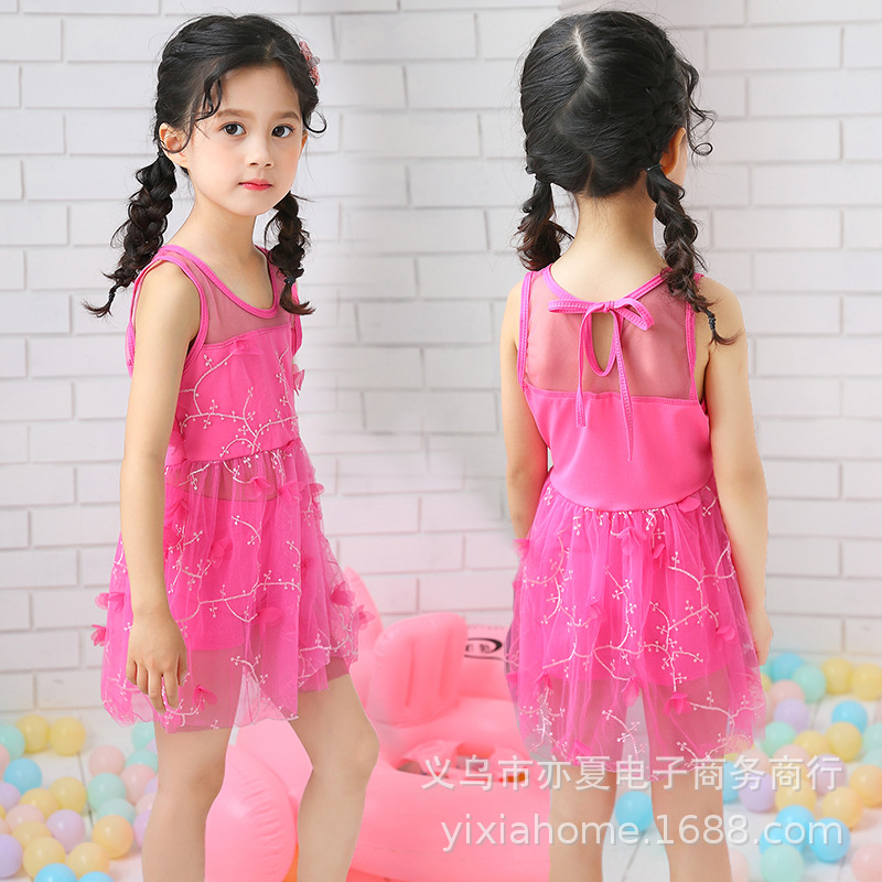 New Style CHILDREN'S Swimsuit GIRL'S Swimsuit 2019 Summer Wear Western Style GIRL'S One-piece Lace Skirt Tour Bathing Suit