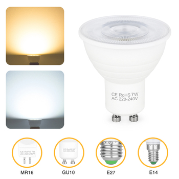 GU10 Led Bulb Lamp LED Cup Lamps 7W Spotlight Home Lamp Energy Saving Lighting Bulb Led Lamp Cool White/Warm White image