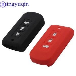 Novo remoto 3 botões caso chave do carro inteligente capa para mitsubishi outlander 2016 lancer 10 pajero esporte asx l200 keyrings titular caso