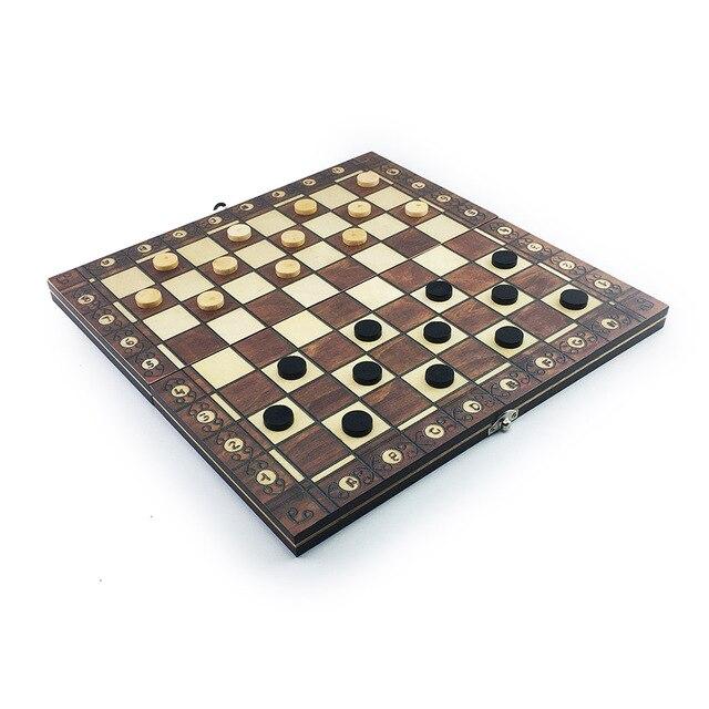 Super échiquier  magnétique en bois échecs 3 en 1 ! 4
