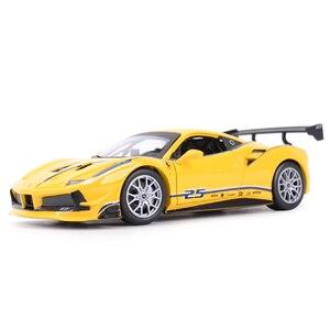 Image 1 - Bburago 1:24 Ferrari 488 ChallengeกีฬารถSTATIC Die Castรถสะสมรถของเล่น