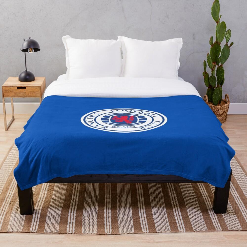 Glasgow Rangers FC Logo Throw Blanket Soft Sherpa Blanket Bed Sheet Single Knee Blanket Office Nap Blanket