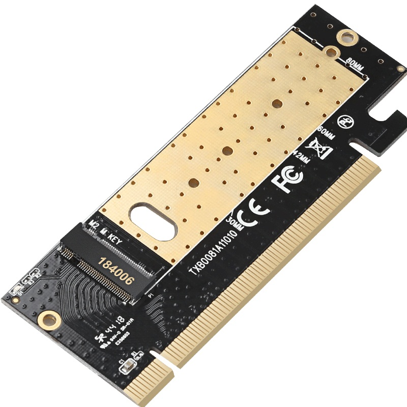 m.2 to pcie x16 adapter Card pci-e to m . 2 m2 adapter NVMe SSD Adaptor M Key Interface PCI Express 3.0 x4 2230-2280 Size Pakistan
