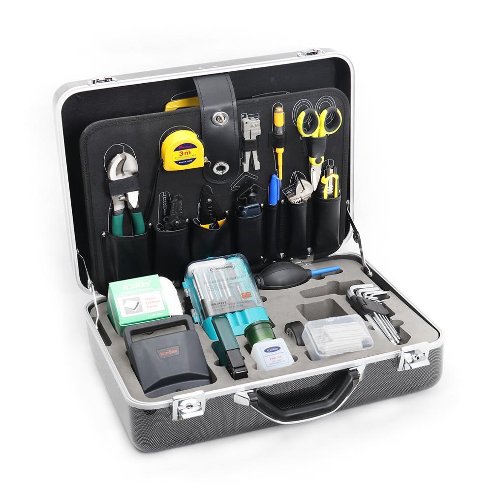 Fiber Toolkit KomShine KFS-40E Basic Fiber Optic Tool Kit With FC-6S Cleave/Fusion Splicing Toolkit/Herramientas De Fibra Optica