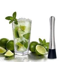 Нержавеющая сталь сломанный фруктовый барный пестик Swizzle палка домашний бар барный инструмент молоток для колки льда Миксер для фруктов DIY напитки