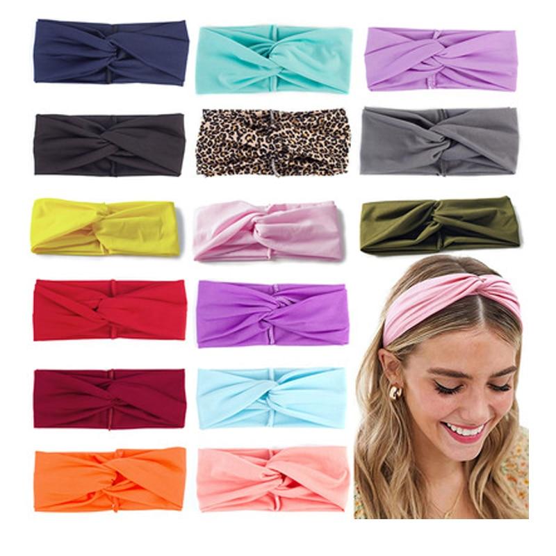 Winter Plush Cross Velvet Headbands For Women Girls Warm Solid Soft Twisted Knot Cotton Hairbands Turban Hair Accessories
