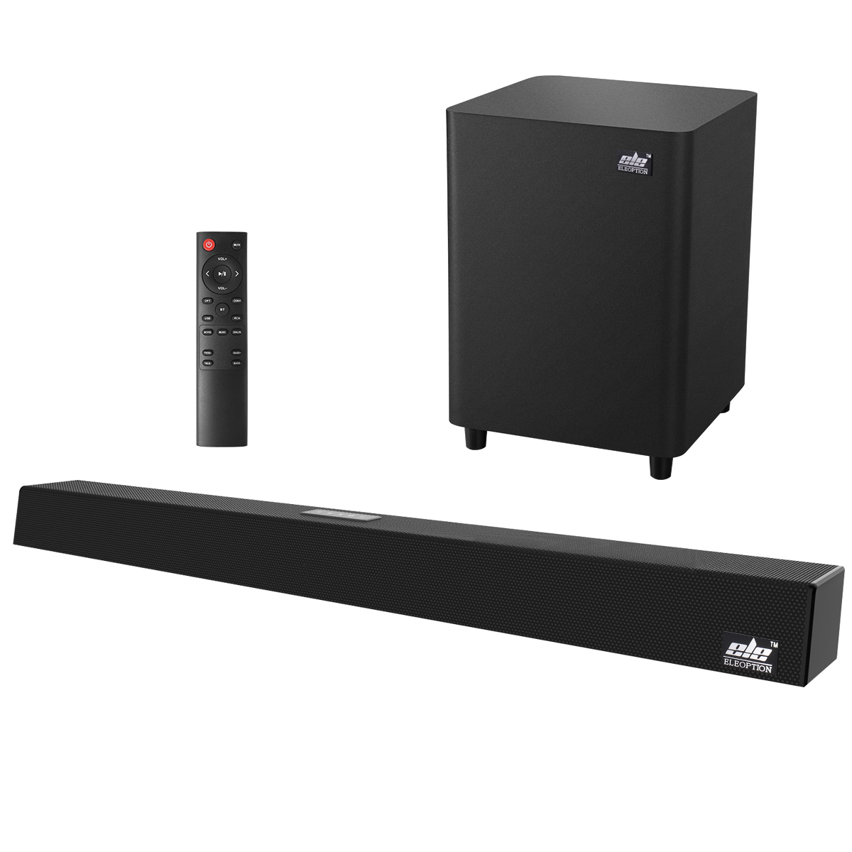 120W Home Theater Sound System Soundbar 2.1 TV Bluetooth Speaker Support Optical AUX Coaxial Sound Bar Subwoofer Speakers For TV