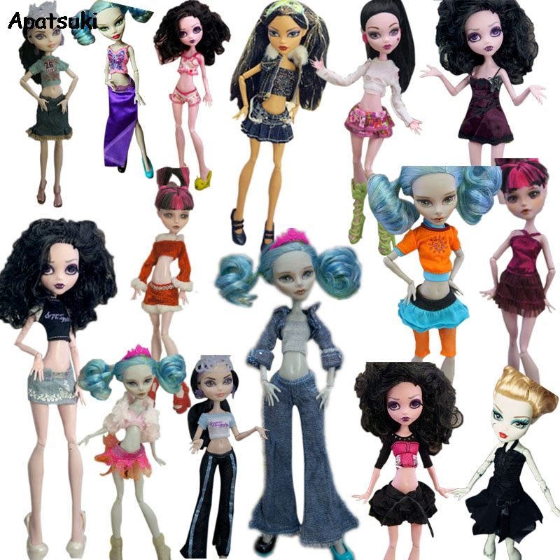 Fashion Dolls Clothes Set for Monster High Doll Shirt Dress Pants Trousers Skirt  For Bratz Outfits For Kids DIY Dollhouse Toys