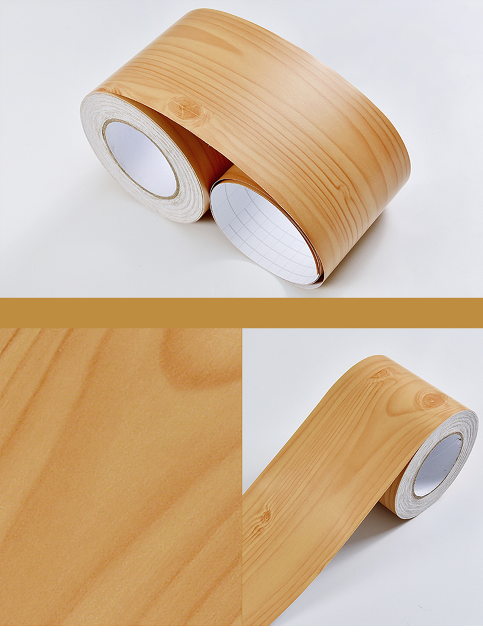 Wood Self Adhesive Window Decal Living Room Floor Border Skirting Contact Paper Waterproof Waist Line Wallpaper Home Improvement H8d9c3258eb254d7f8be6a8e40c394ee2k