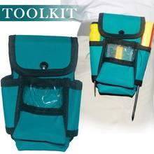 Многофункциональная зеленая сумка для инструментов электрика