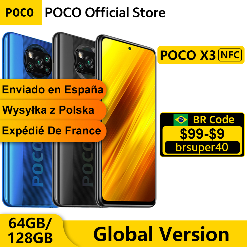 Global Version POCO X3 6GB 64GB / 128GB Smartphone Snapdragon 732G Octa...