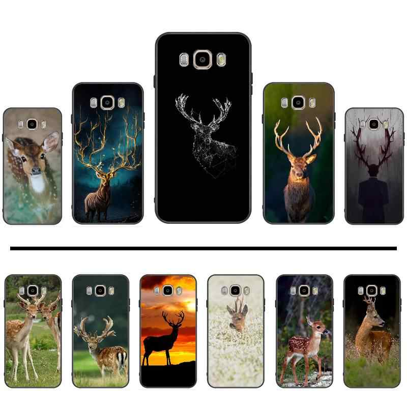 deer Christmas Couples  Silicone Phone Case Cover For Samsung Galaxy J2 J4 J5 J6 J7 J8 2016 2017 2018 Prime Pro plus Neo duo