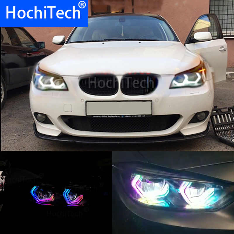 RGBW Multi Color ICONIC M4 Style Crystal Angel Eyes Kit Day Light DRL for BMW E60 5 Series XENON 528i / 535i, Pre LCI and LCI